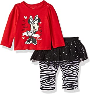 Disney Baby-Girls Newborn Minnie Mouse 2 Piece Zebra Print Skegging Set