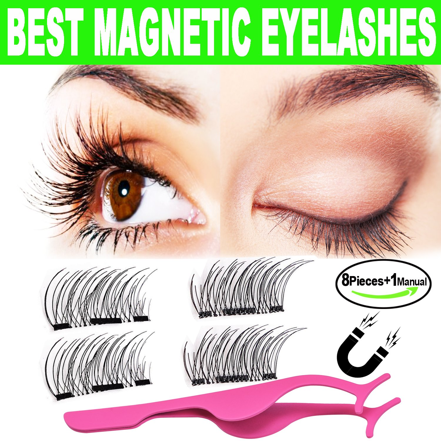 Amazon 3d Magnetic Eyelashes Natural Look Beautyshow Best