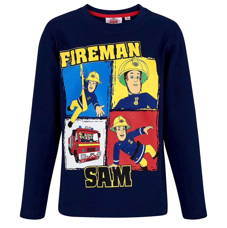 Feuerwehrmann Sam Langarmshirt Jungen Rundhalsausschnitt