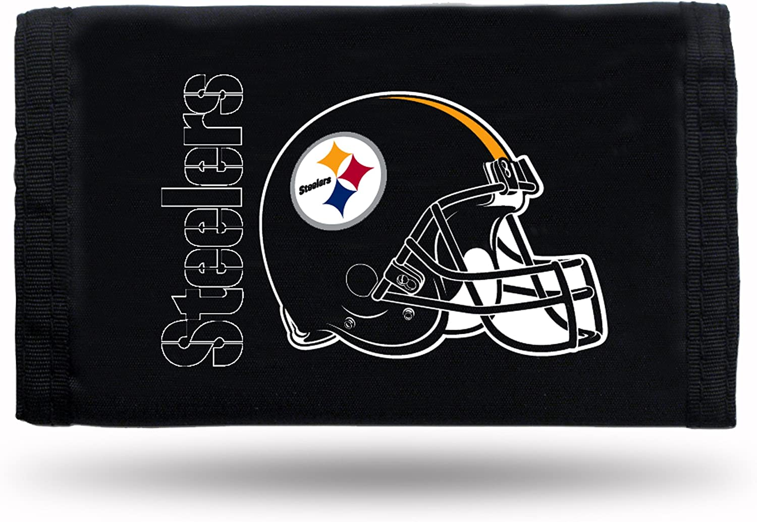 B0002DFLGS Pittsburgh Steelers Black Nylon Tri-Fold Wallet 81yOhciaRNL