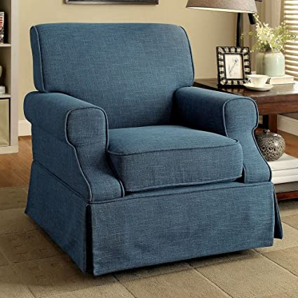 Awesome Amazon Com Furniture Of America Cm Rc6509Bl Leela Blue 360 Caraccident5 Cool Chair Designs And Ideas Caraccident5Info