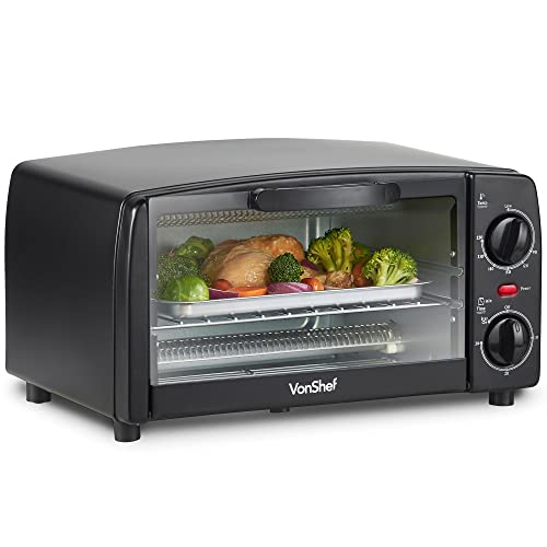 Vonshef 19l Black Mini Oven Amp Grill 1400w With Baking Tray