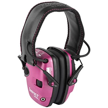 Howard Leight by Honeywell Impact Sport Sound Amplification Electronic Shooting Earmuff, Pink (R-02523)