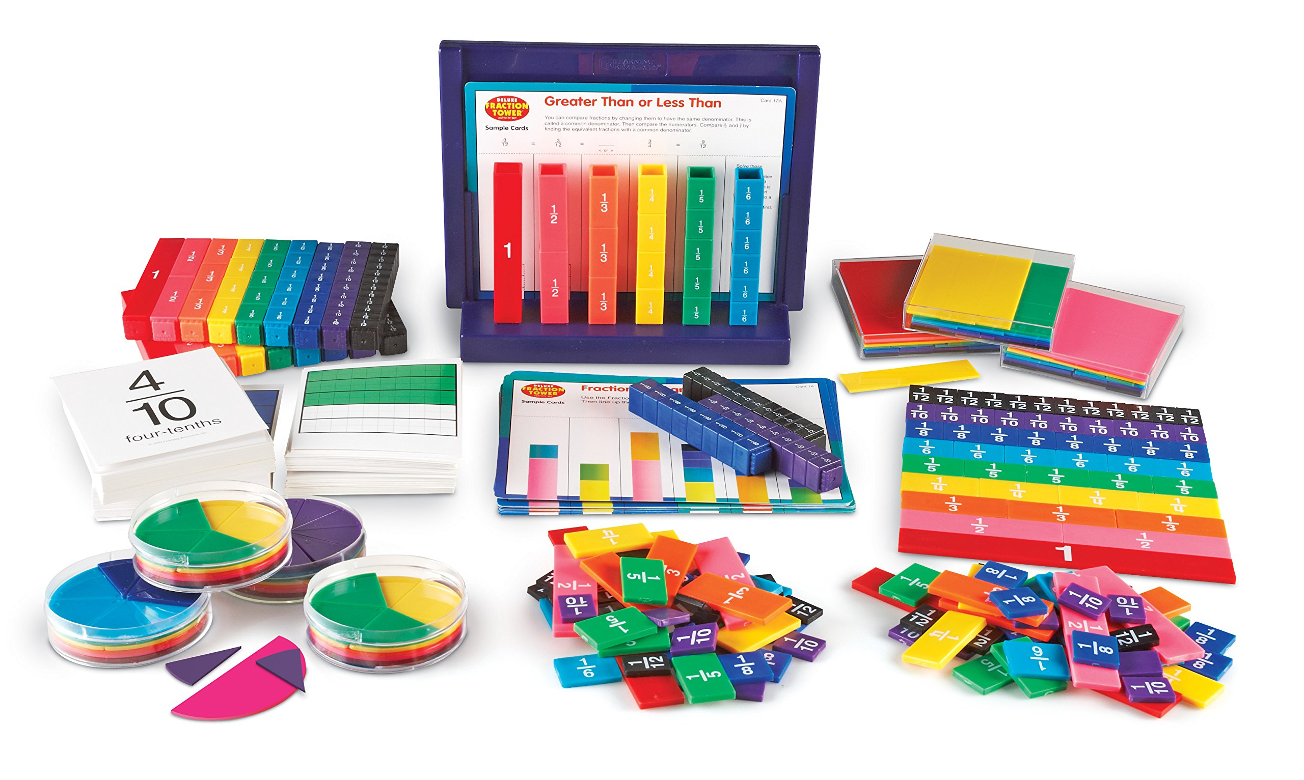 Learning Resources Rainbow Fraction Teaching System Kit by Learning Resources