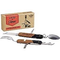 Gentlemen's Hardware GEN159 Camping Cutlery Tool (GEN058 RF Wood Handles, Packaging), Adult-Men