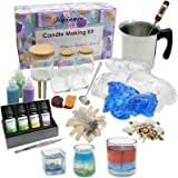 Candle Making Kit – Wax and Accessory DIY Set for The Making of Colored Candles - Easy to Make Scented Candle Gel Wax…