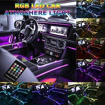 LED Car Interior Decor Light Strip Atmosphere Neon Driving Lamp Music Control UK