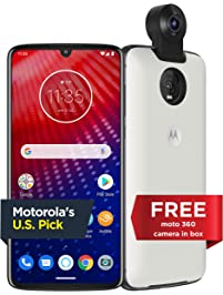 Moto Z4 with Alexa Hands-Free (Moto 360 camera included) – Unlocked – 128 GB – Flash Gray