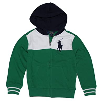 Polo Ralph Lauren Boys Big Pony Cotton Hoodie (4/4T, English green)
