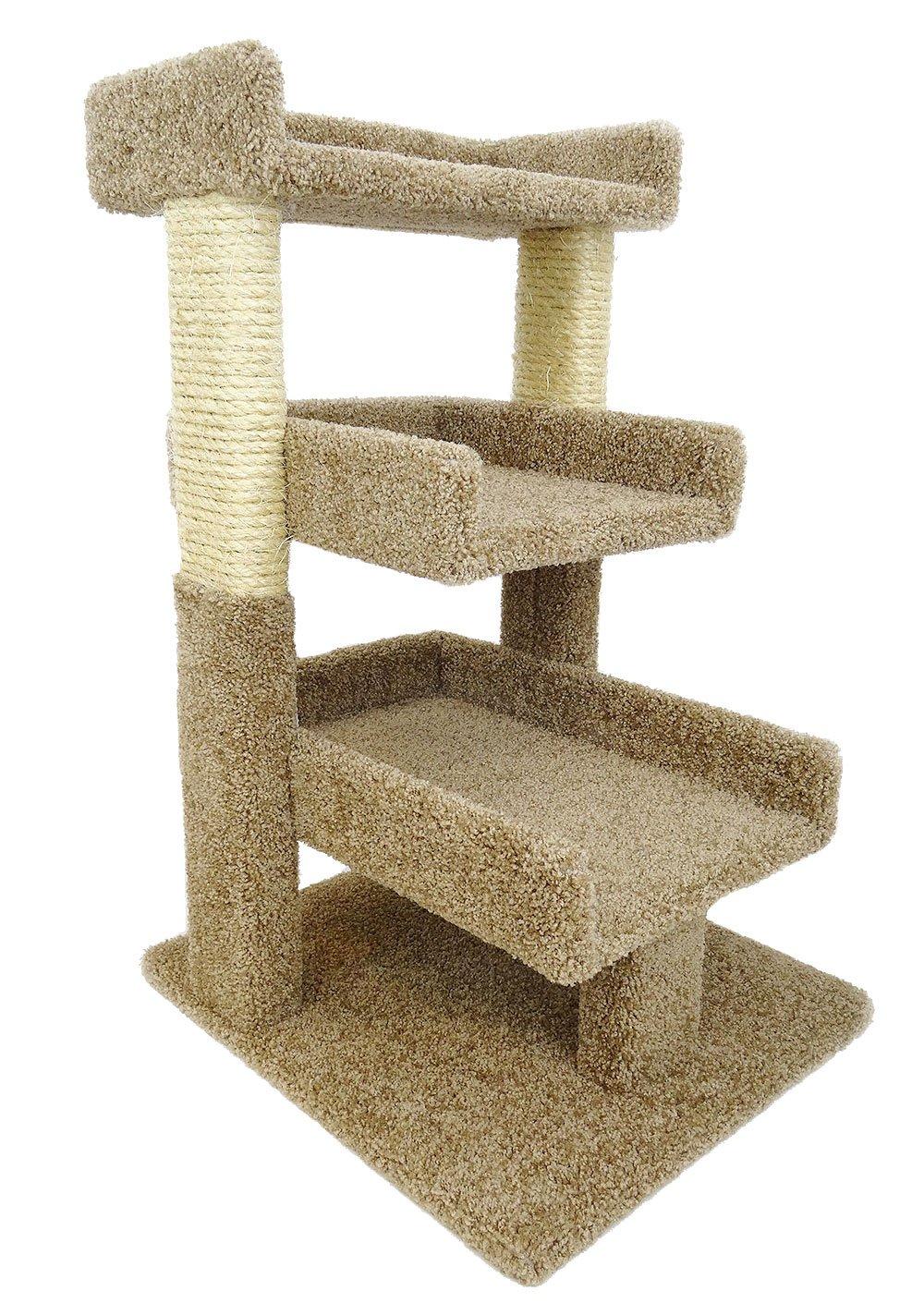 New Cat Condos Premier Triple Cat Perch, Brown
