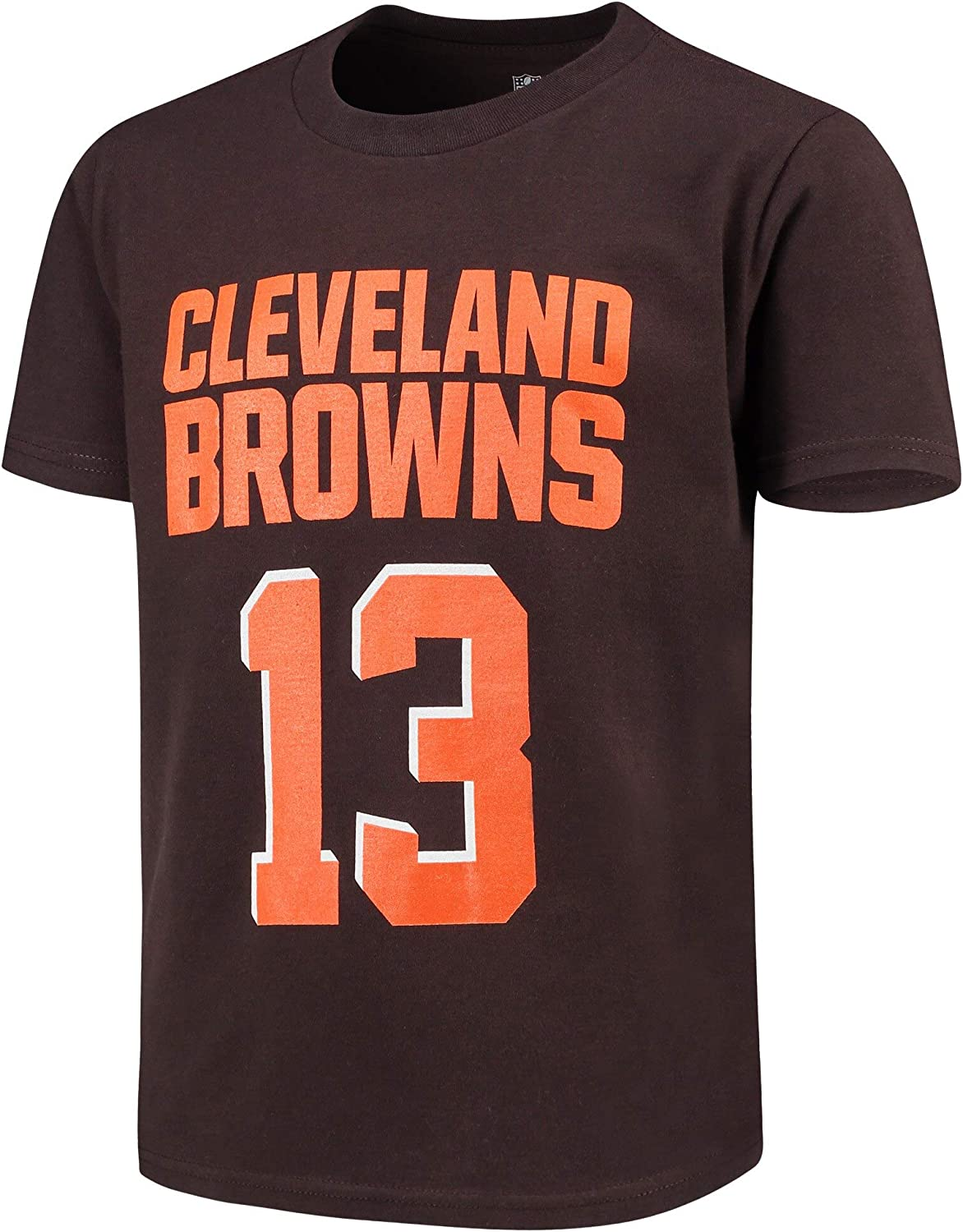 Outerstuff Odell Beckham Jr Cleveland Browns Brown Youth 8-20 Mainliner Name /& Number Player T-Shirt
