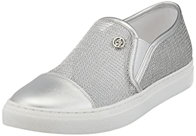 Armani Jeans 9251957p583, Sneakers Basses Femme - Argent - Silber (Argento), 37Emporio Armani
