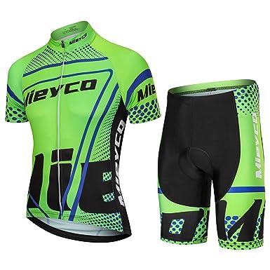 Meiyco Men s Cycling Jersey Full Sleeve Riding Wear Short Sleeve T Shirts  Pants ... 6f952f605