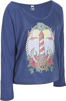 Küstenluder Damen Oberteil Leuchtturm Sailor Pullover