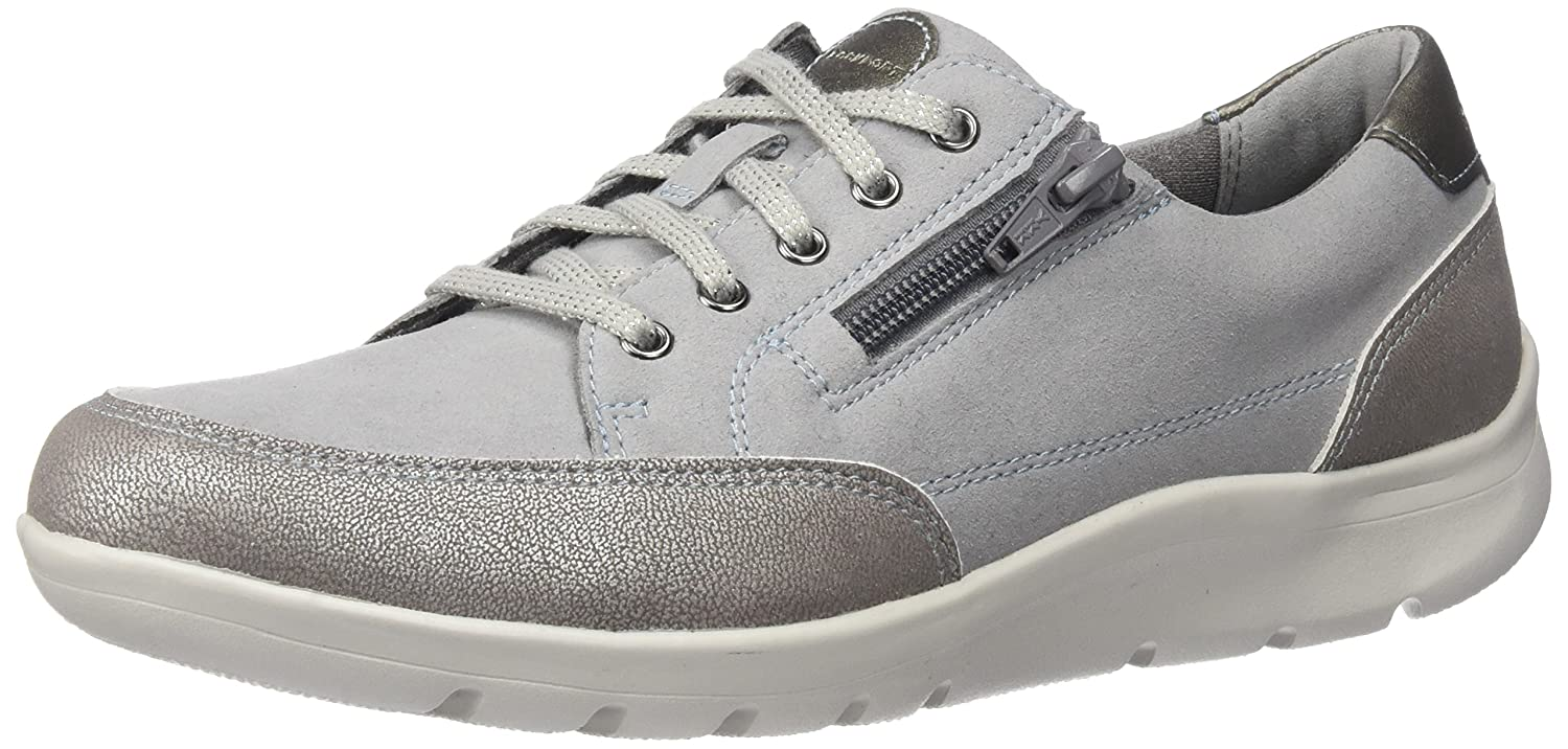Rockport Women's Moreza Zip Tie Fashion Sneaker B01JOVA83E 9.5 W US|Metallic