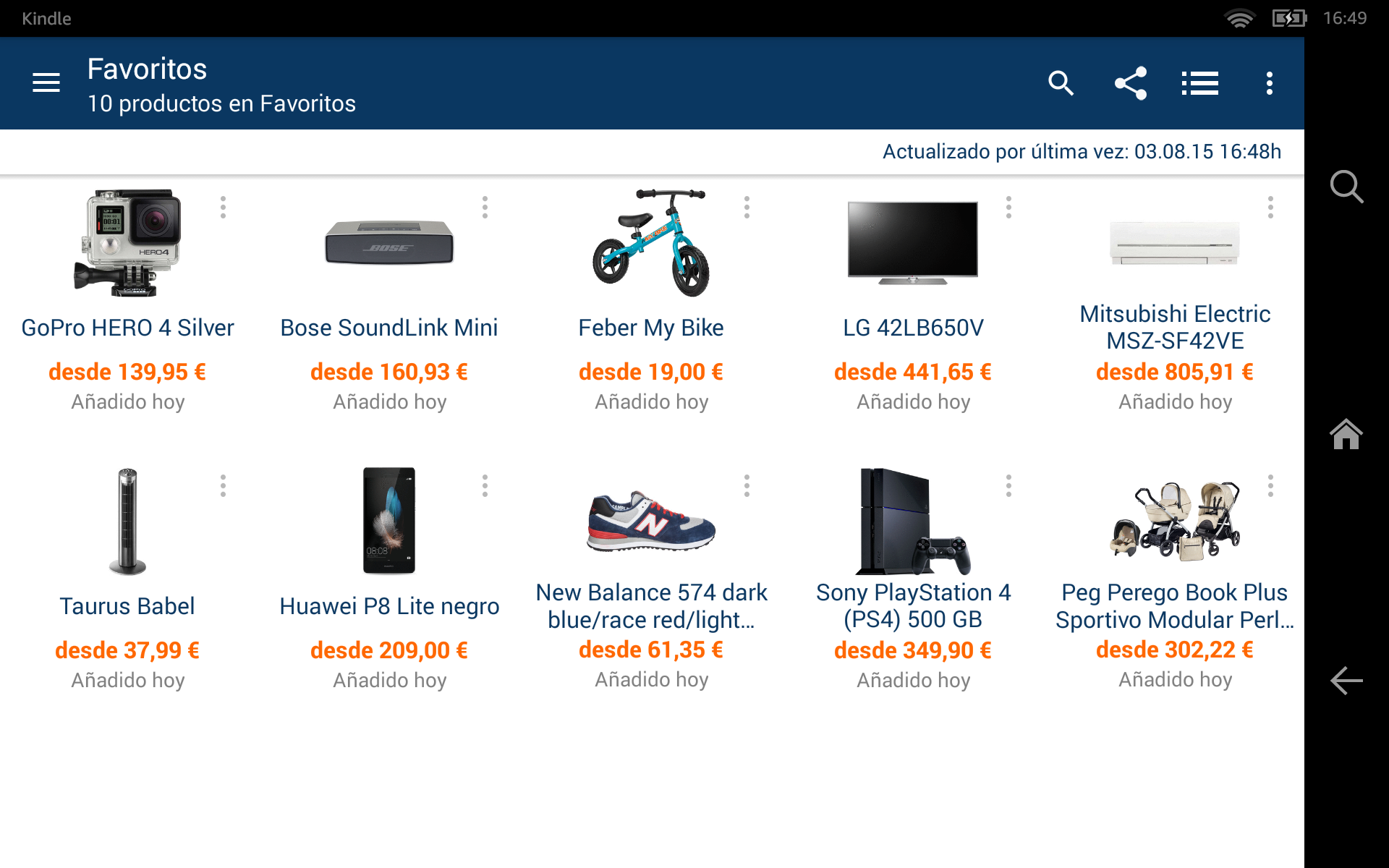 COMPARADOR DE PRECIOS AMAZON MEDIA MARKT