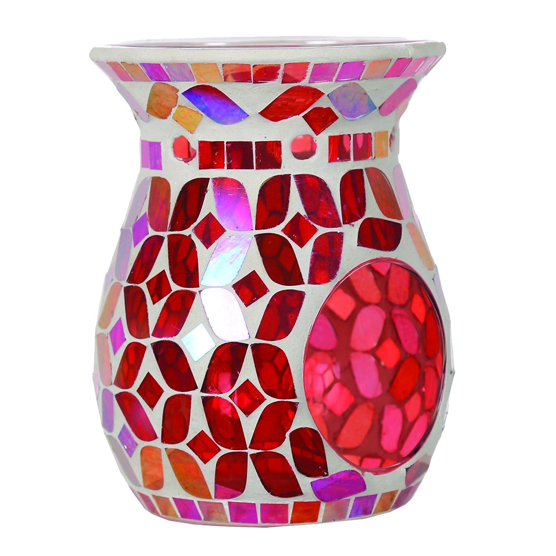 Aroma Accessori Ciliegia Lustre Mosaic bruciatore di Cera, Rosso, 14cm Aroma Accessories VC1020