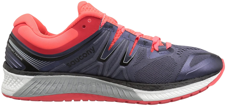 Saucony Women's Hurricane Iso 4 Running Shoe Red B072QFGVLS 5 B(M) US|Grey/Black/Vizi Red Shoe 83b5b7