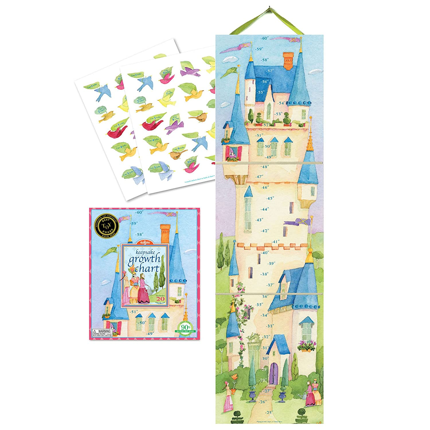 Amazon eeboo up in the castle growth chart toys games nvjuhfo Choice Image