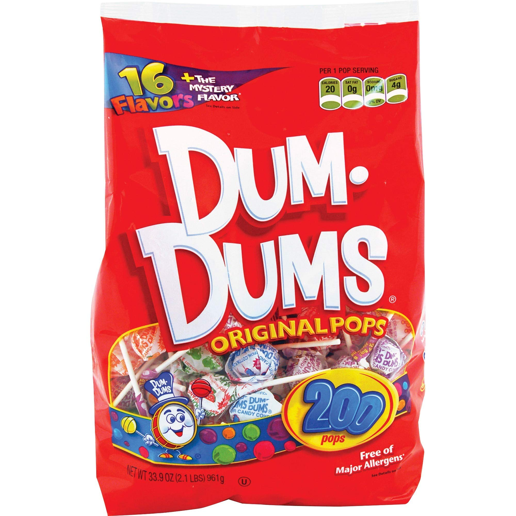 DUM DUMS Lollipops, Variety Flavor Mix, 200 Count Bag