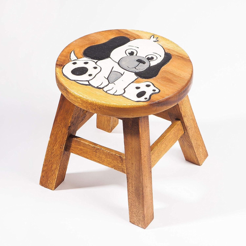 Hauteur dassise de 25 cm pour notre groupe de si/ège enfant Tabouret pour enfant en bois massif avec motif animal