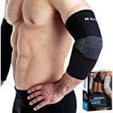 Mava Sports Bamboo Elbow Brace Compression Support Sleeve for Tendonitis, Tennis, Golf Elbow Treatment - Reduce Elbow Joint P