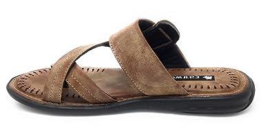 ba52477645c4 Cat Wog Men s Mustard Lining Leather Kawadi Sandals