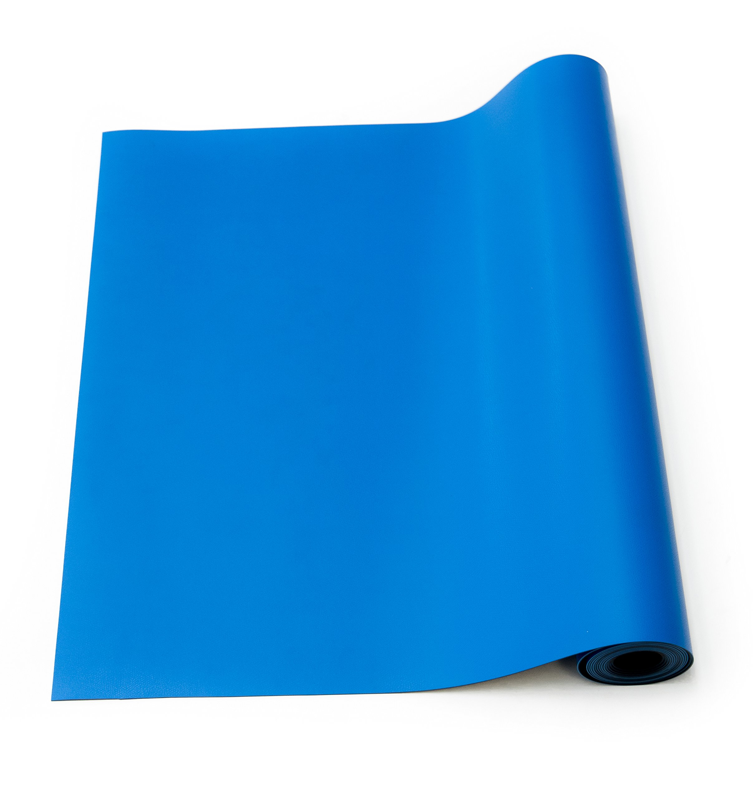 Bertech ESD High Temperature Rubber Mat Roll, 3' Wide x 20' Long x 0.08'' Thick, Blue, Made in USA