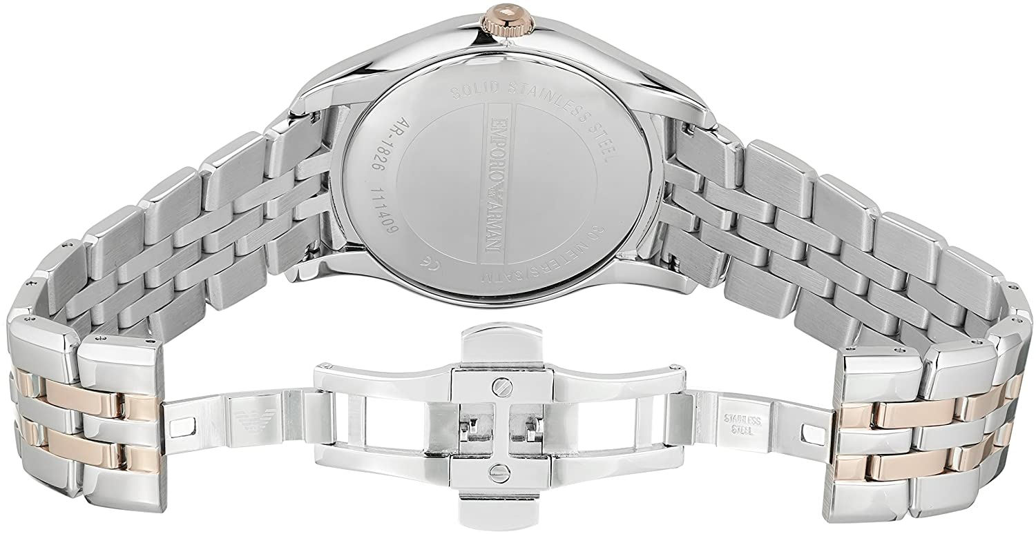 Amazon.com: Emporio Armani Mens AR1826 Dress Two Tone Watch: Emporio Armani: Watches