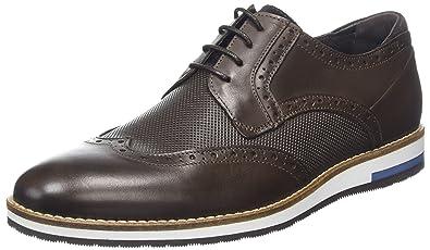 Bertie Baker Hill, Zapatos de Cordones Brogue para Hombre, Marrón (Brown Leather), 46 EU