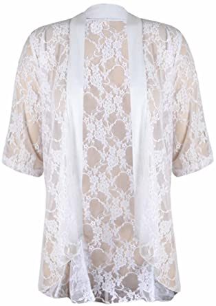 Purple Hanger Women s Plus Size Floral Lace Cardigan Waterfall Top at Amazon  Women s Clothing store  3a96c26c0