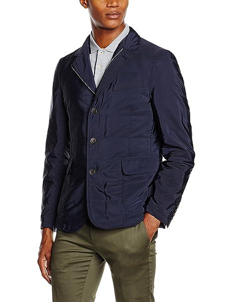 Hackett Clothing Lw Padded Blazer, Abrigo Hombre, Azul (Navy), S(