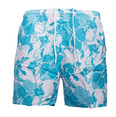 b95928ef588e Hommes short de bain Marc ID1495 Hawaii Style, Farben Turquoise Größe-Shorts