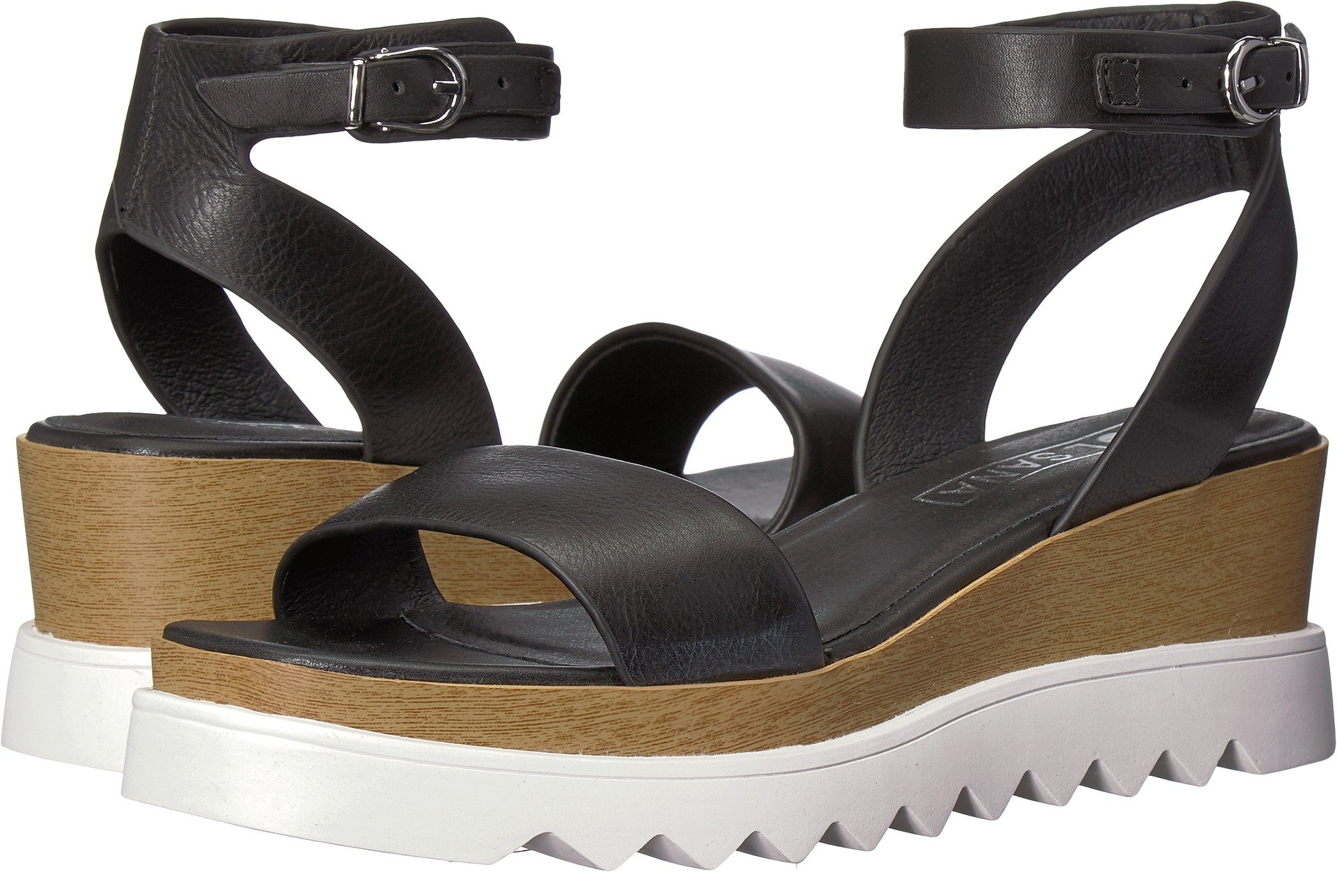 Sol Sana Women's Tray Wedge Sandal Black 2 38 M EU
