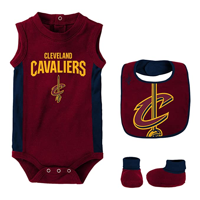 sports shoes b401d 98f73 NBA Baby Boys' Cleveland Cavaliers Newborn Babygrow-Bib and ...