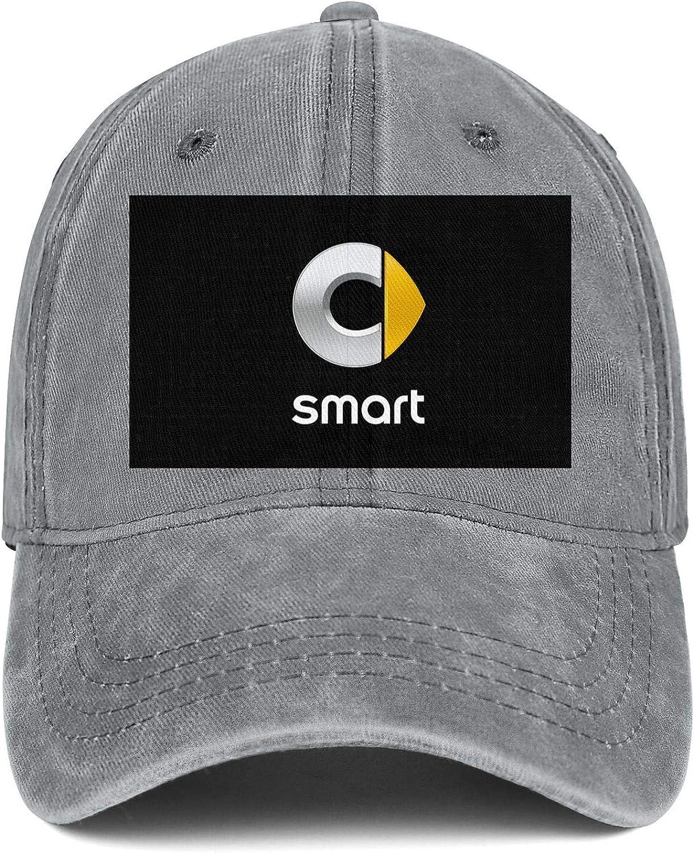 QFPMZJUIE Mens Womens Hat Smart-Logo Snapback Hats Cool Denim Cap Funny Caps