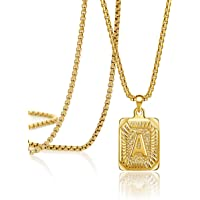 Amazon Price History for:Joycuff 18K Real Gold Initial Letter Pendant Necklace Personalized 26 Alhpabets Jewelry for Women Men Teenage Sister Mom…