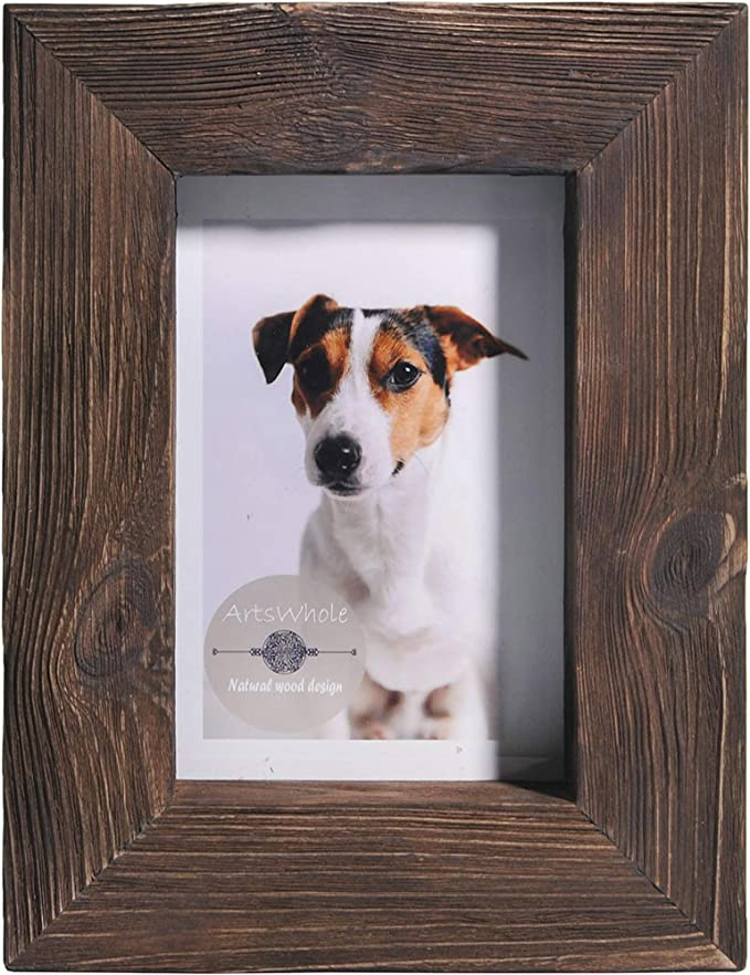 9x12 11x14 Italian Country Rustic Natural Wood Picture Frame with Mat 8x10 14x16 16x20 Standard and custom sizes available.
