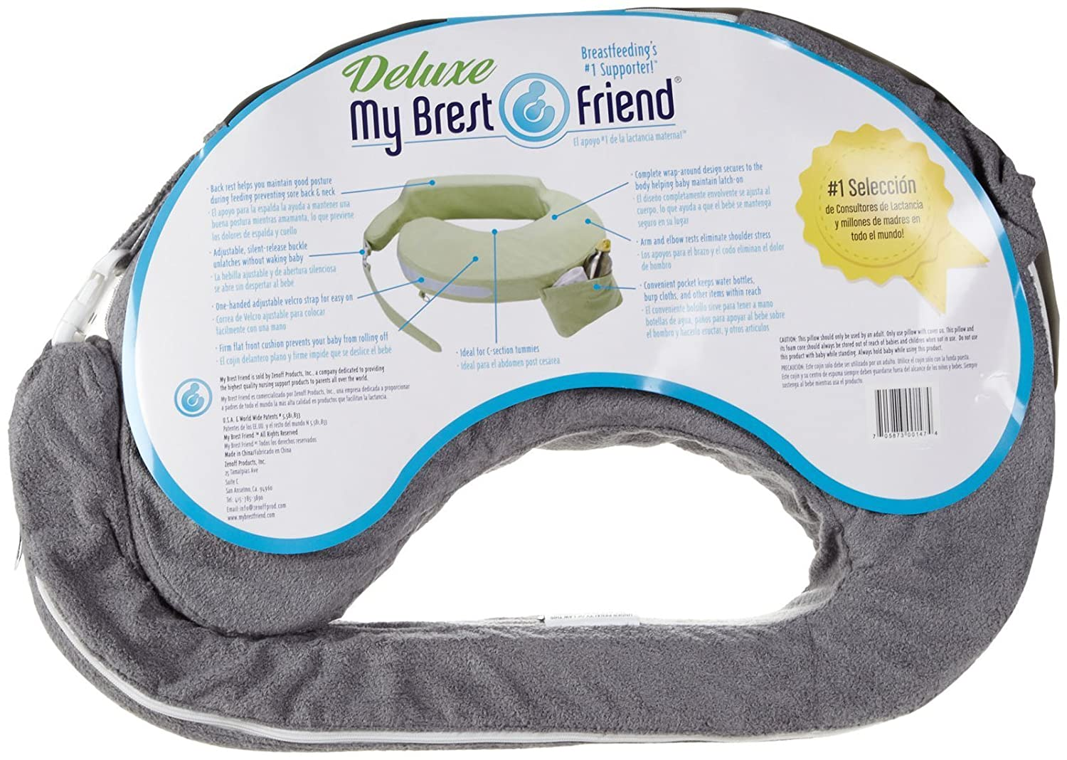 Amazon.com: My Brest Friend Deluxe - Almohada de lactancia: Baby