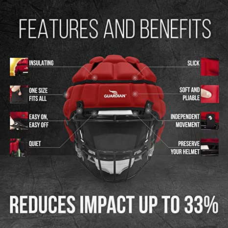 c44813ce771 Amazon.com   Guardian Cap - Soft-Shell Protective Helmet Cover   Football  Helmets   Sports   Outdoors