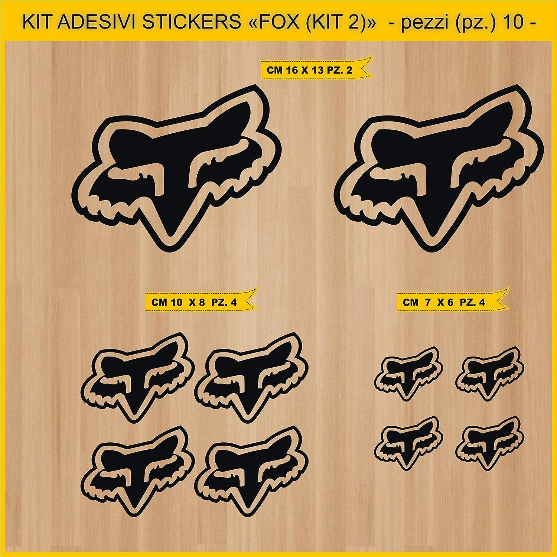 SBD Decals 2 Fox Racing Shox y Etiquetas Cortadas con tintas