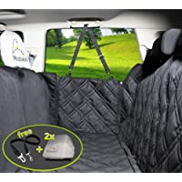 Dog Car Seat Covers Unique Design & Entire Car Protection-Doors,Headrests & Backseat. Extra Durable Zippered Side Flap, Waterproof Pet Seat Cover + Seat Belt & 2 Headrest Protectors as a Free Bonus