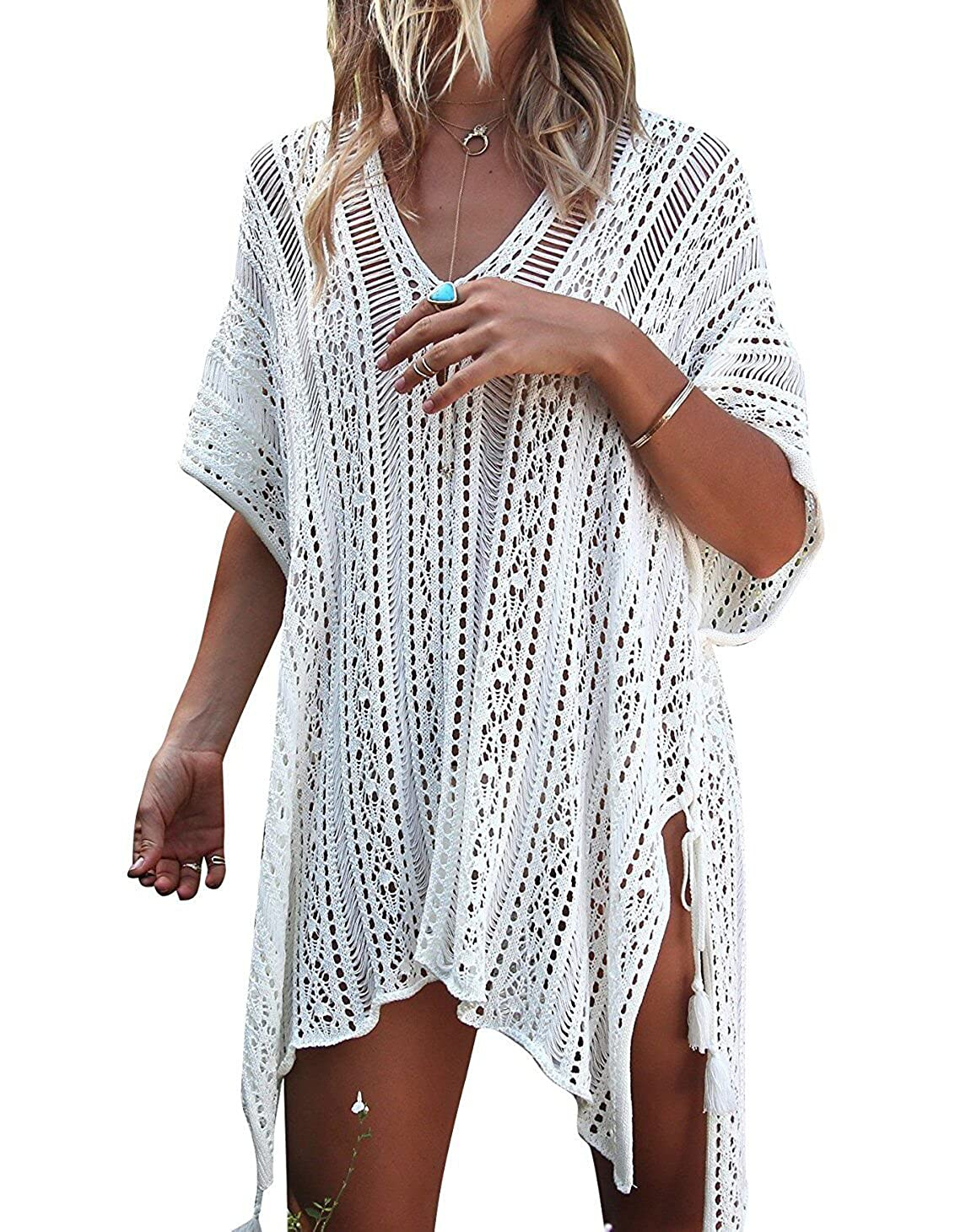 LAVENCHY Swimsuit Bikini Bathing Swimwear Crochet Cover up
