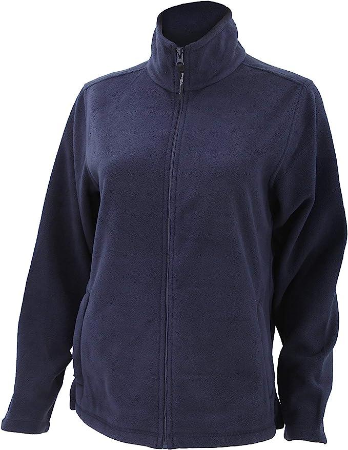 Women Full Zip Jacket Polar Micro Fleece Ladies Outdoor Sports Wear Coat Pockets