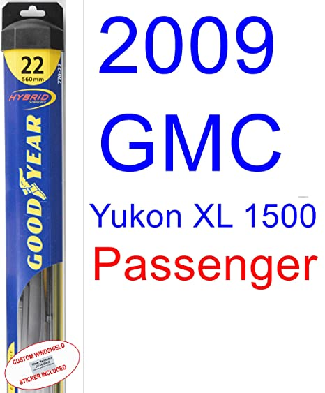 2009 GMC Yukon XL Denali de repuesto para limpiaparabrisas Set/Kit (Goodyear limpiaparabrisas blades