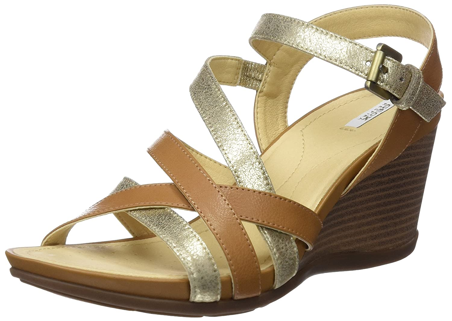 Geox Women's D DOROTHA Fashion M Sandals 39 EU/8 M Fashion US|Curry/ Lt Taupe B0766BLW47 5d8ad7