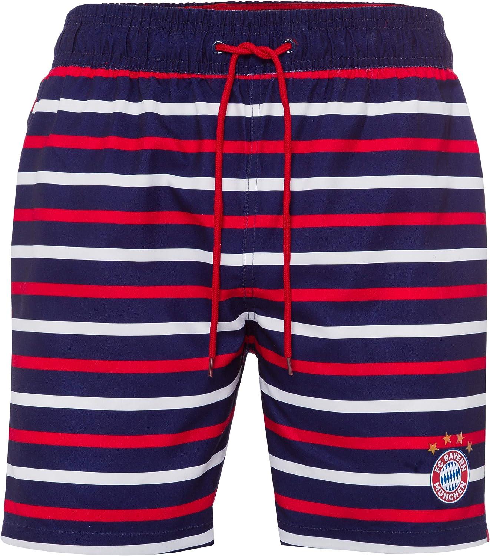FC Bayern Munich Short de bain /à rayures et autocollants Forever M/ünchen M