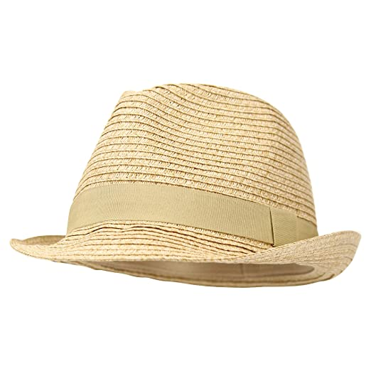 d366cac23e3 Women s Stretch Fit Paper Straw Fedora Hat (Beige) at Amazon Women s ...