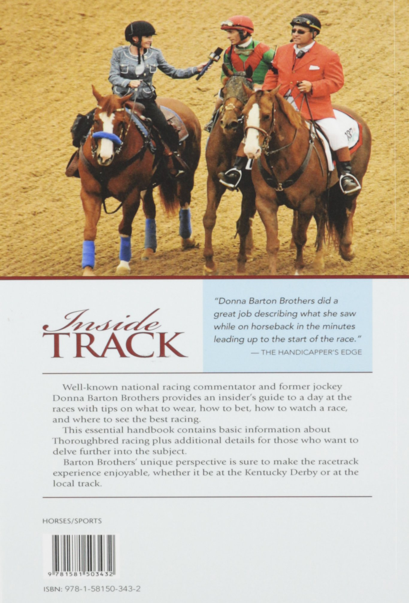 Inside Track: Insider's Guide To Horse Racing: Donna Barton Brothers:  9781581503432: Amazon: Books