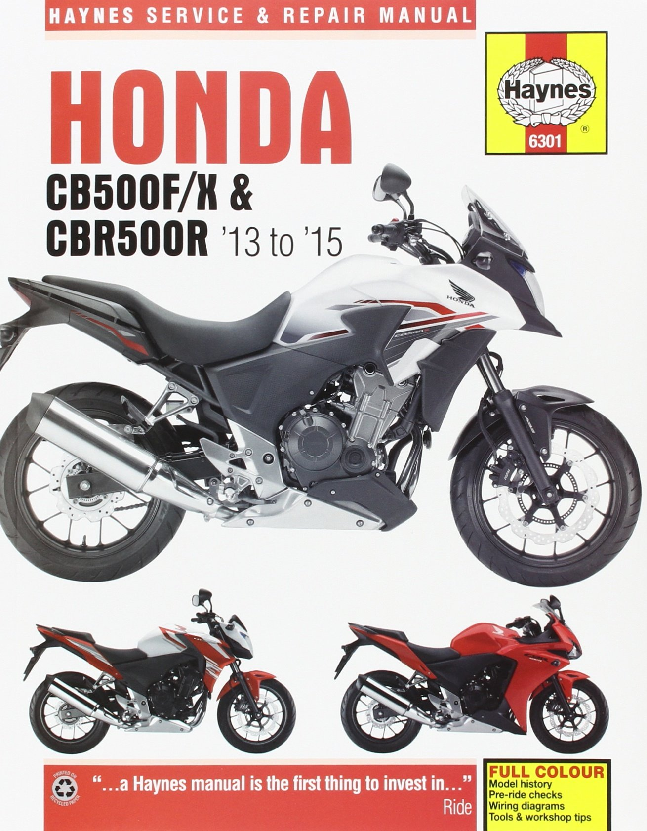 Honda CB500FX and CBR500R Service and Repair Manual 2013 thru 2015 (Haynes  Powersport): Haynes Publishing: 9781785213014: Amazon.com: Books